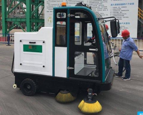 驾驶式扫地机DX2000山东德州某化工厂