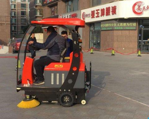 淄博商业街DX1400扫地机交货现场