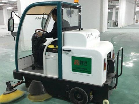 山东聊城学校DX1800驾驶式扫地车交机现场